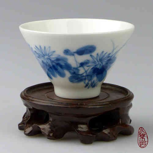 "Porcelain Teacup S1504 - ""Chrysanthemum"""